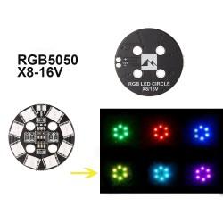 RGB LED Circular luz de 7 colores x8/16V
